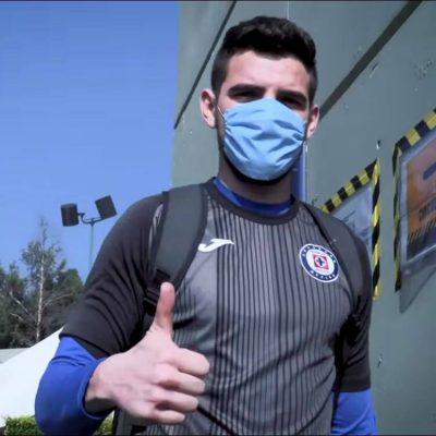 El yucateco Andrés Gudiño juega en la victoria del Cruz Azul sobre el Toluca