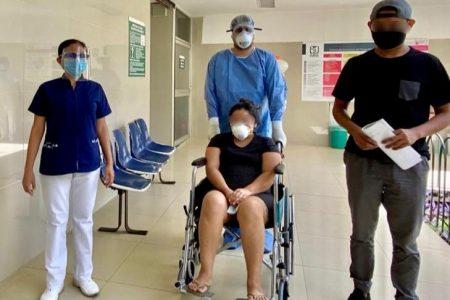 Joven yucateca embarazada vence el Covid-19 en el hospital Juárez del IMSS