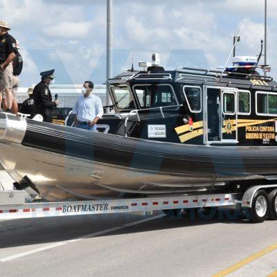 Yucatán Seguro: refuerzan vigilancia costera con modernas embarcaciones tipo patrulla