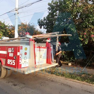 Explosión e incendio en una panadería de Pedregales de Tanlum