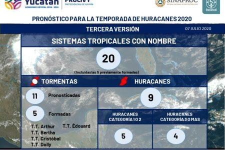 Actualizan pronóstico de huracanes 2020: habrá uno más que en las previsiones