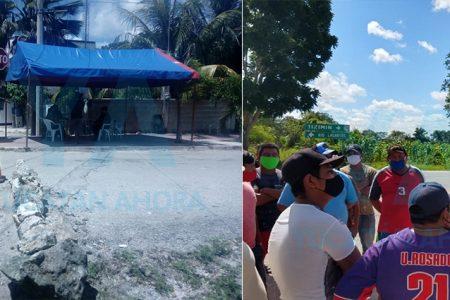 Pescadores desmantelan un filtro sanitario por negarles la entrada a Río Lagartos
