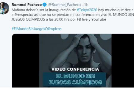 """Rommel Pacheco te invita a un """"Mundo sin Juegos Olímpicos"""""""