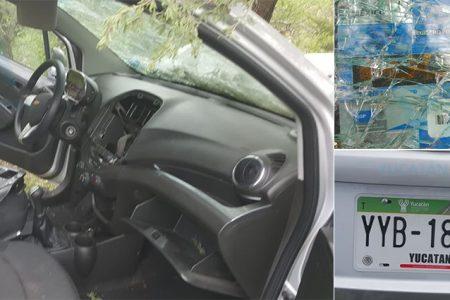 Choca un auto con placas de Yucatán en San Luis Potosí: pasajeros desaparecidos