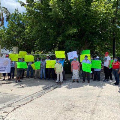 Ejidatarios de Chablekal protestan ante el INAH: piden pago por Dzibilchaltún