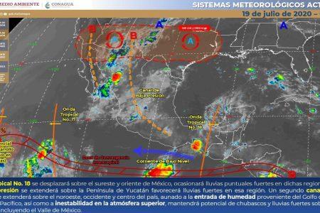 Pronostica Conagua que seguirán este domingo las lluvias fuertes en Yucatán