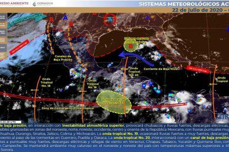 Seguirán las tormentas y temperaturas muy calurosas este miércoles en Yucatán