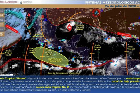 El tiempo, sin novedad en Yucatán: mucho calor y lluvias después del mediodía