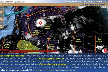 Conagua pronostica un sábado lluvioso en Yucatán por la onda tropical 21