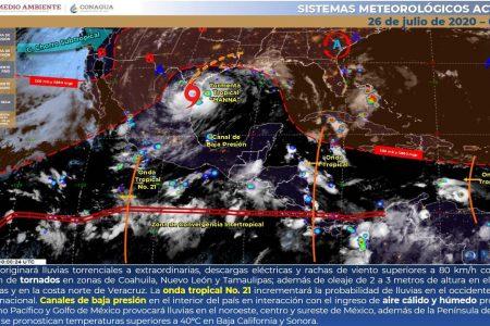 Pronostican lluvias dispersas para este domingo en Yucatán