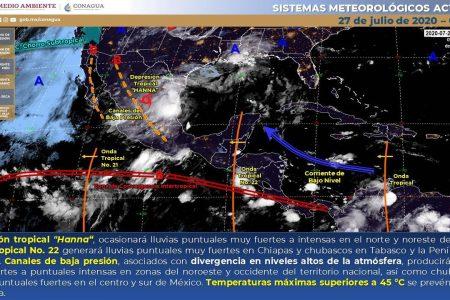 Pronostican lunes con lluvias por la tarde y ambiente muy bochornoso