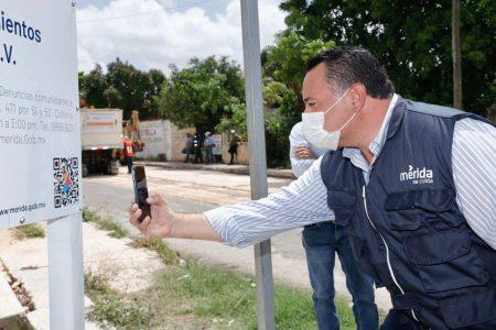 Información detallada de la obra pública de Mérida, con solo escanear un código QR