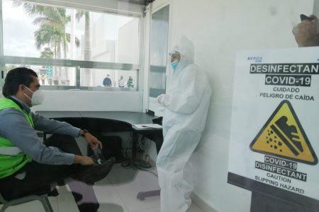 El aeropuerto de Mérida, listo para detectar y atender casos sospechosos de Covid-19