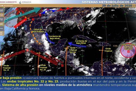 Onda tropical dejará lluvias este miércoles en Yucatán