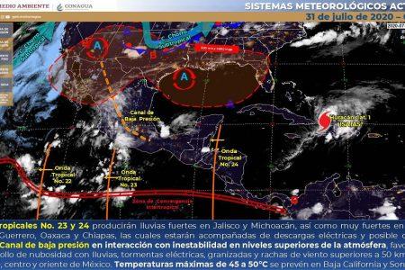 Pronostican lluvias fuertes en el centro, norte y noreste de Yucatán