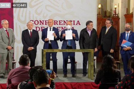 AMLO firma acuerdo para comprar medicamentos buenos, baratos y sin corrupción