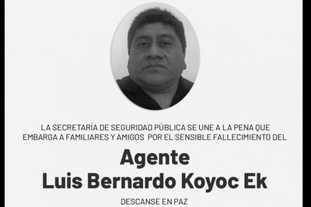 La pandemia de Covid-19 cobra la vida de otro agente de la SSP Yucatán