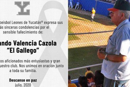 Fallece Rolando Valencia Cazola, gran aficionado del béisbol y los Leones de Yucatán