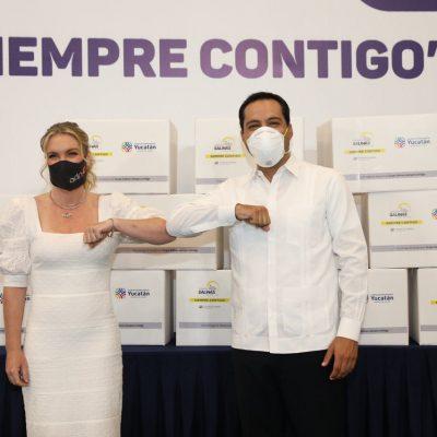 Gobierno del Estado e iniciativa privada unen esfuerzos a favor de los yucatecos
