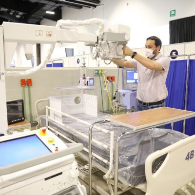 Inminente apertura del hospital Covid-19 en el Centro de Convenciones Yucatán Siglo XXI