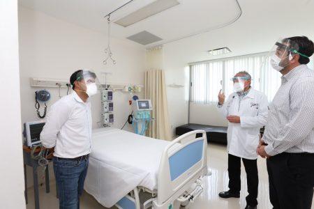 Piso 3 del HRAEPY, listo para atender a pacientes con Covid-19