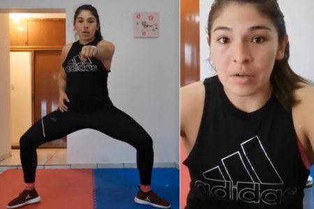 La karateca Lupita Quintal pone en forma a los yucatecos con entrenamiento virtual