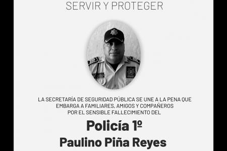 Fallece por Covid-19 policía con 24 años de servicio: es el noveno en la SSP