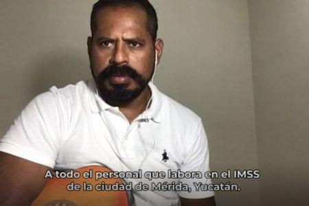 Compositor aficionado dedica una canción al personal de salud del IMSS