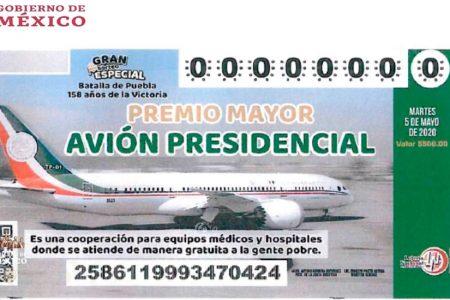 Ya se vendió el 25 por ciento de los cachitos para la rifa del avión presidencial
