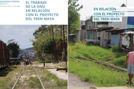 Presenta ONU folleto de trabajo del Tren Maya