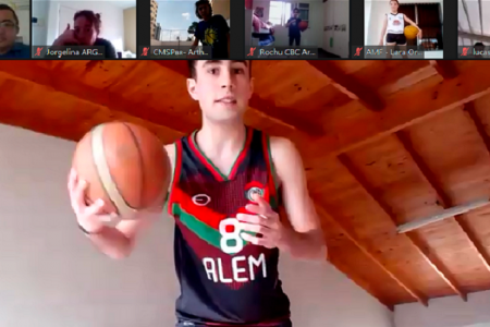 Escuela Municipal de Baloncesto participa en encuentro internacional en línea