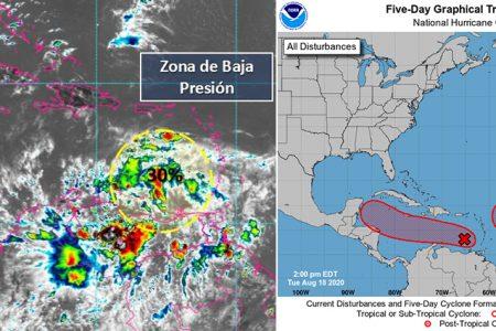 Sistema con potencial ciclónico se dirige a la Península de Yucatán
