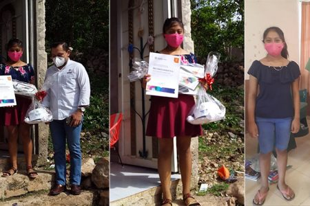 Cindy Caamal, alumna de Kinil, Tekax, gana el concurso estatal Historias de Familia