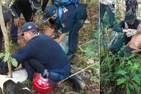 Exitoso operativo: localizan con vida a abuelito que se perdió 4 días en el monte