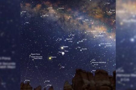 En Sagitario, hoy, el triángulo amoroso de la Luna, júpiter y Saturno