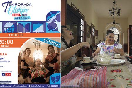 Todo listo para el estreno de La Tía Mariela, versión yucateca de Conchi León, en la Temporada Olimpo Online