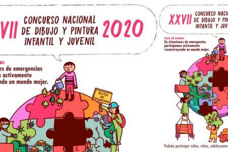 Abren convocatoria del Concurso Nacional de Dibujo y Pintura Infantil y Juvenil 2020