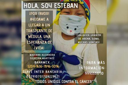 Esteban necesita tu ayuda: requiere 800 mil pesos para combatir la leucemia
