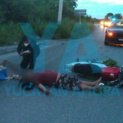 Ebrio motociclista derrapa junto a un joven de 18 años