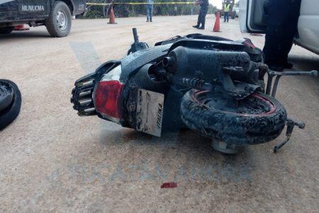 Trágico accidente en la carretera Hunucmá-Sisal: muere un motociclista