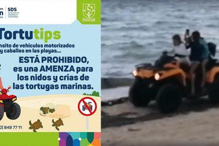 A pesar de prohibiciones, pasean en veleros y cuatrimotos en la playa
