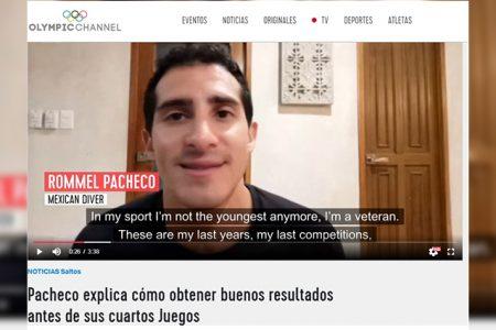 El yucateco Rommel Pacheco es destacado en el canal olímpico rumbo a Tokio 2020