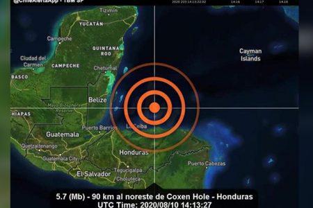 Se siente sismo en Quintana Roo