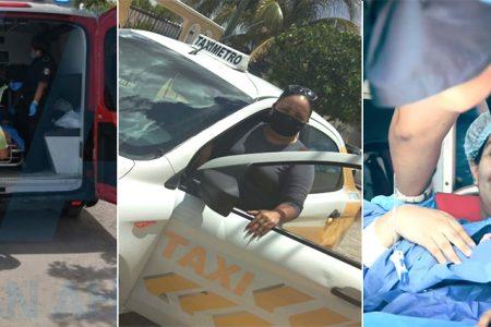 Como taxista te toca de todo: Desde llevar a un borrachito hasta traer un bebé al mundo