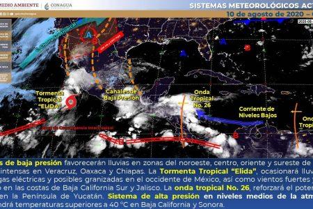Este lunes seguirán las lluvias en diversos puntos de Yucatán