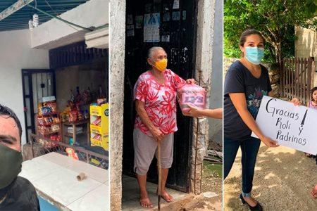 Yucateco celebra con una 'locura doble' sus 40 años: reparte despensas compradas en tienditas