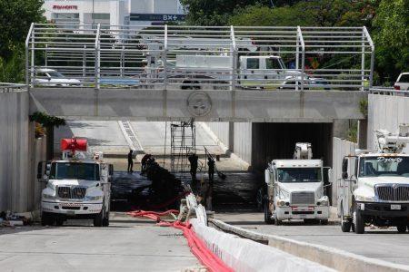 En breve el paso a desnivel será abierto en su totalidad al tránsito vehicular