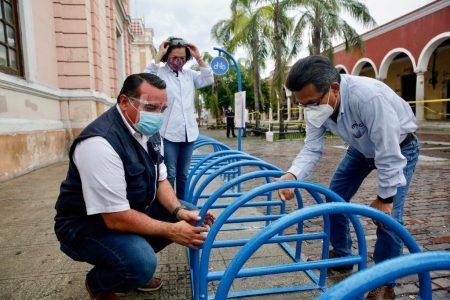 Instalan estacionamientos gratuitos para bicicletas en el centro de Mérida