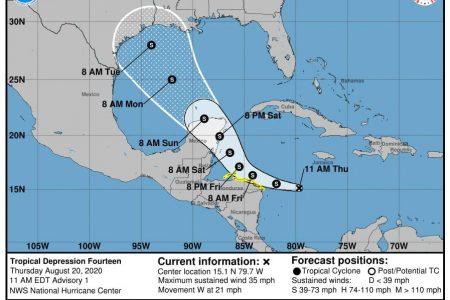 Se forma en el Caribe la depresión tropical 14: avanza hacia la Península