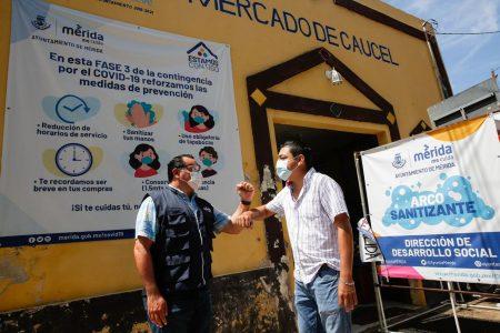 Aumenta la desinfección de los mercados municipales de Mérida